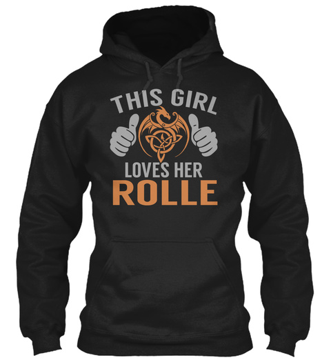 Loves Rolle   Name Shirts Black T-Shirt Front