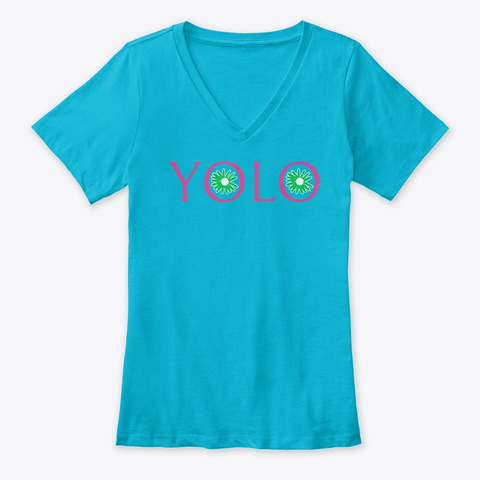N/A Turquoise T-Shirt Front
