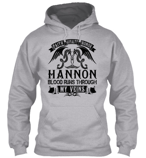 Hannon   My Veins Name Shirts Sport Grey T-Shirt Front