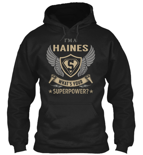 Haines Black T-Shirt Front