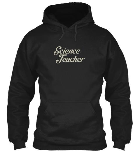 Science Teacher Black T-Shirt Front