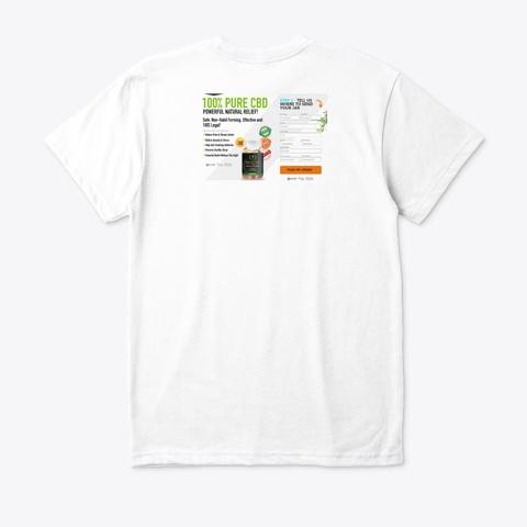 Biogold Cbd Gummies White T-Shirt Back