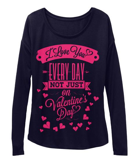 Best Valentine Day Woman Sleeve  Midnight T-Shirt Front