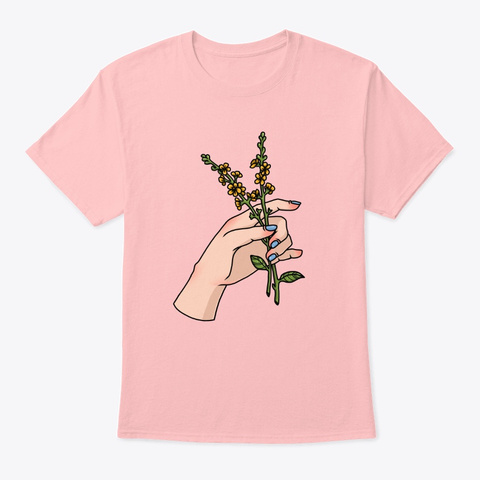 Flower Power Pale Pink T-Shirt Front