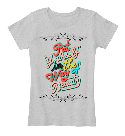 Limited Addition Feminism Quotes Woman T Light Heather Grey T-Shirt Front