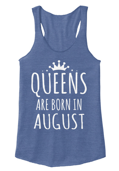 Birth Gift Born Mom Queen Augu Girl Sexy Eco Pacific Blue  T-Shirt Front