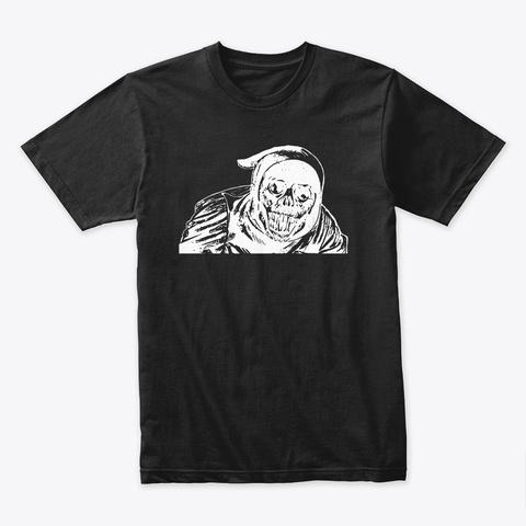 Halloween   Creepy Demon, Evil Face Black T-Shirt Front
