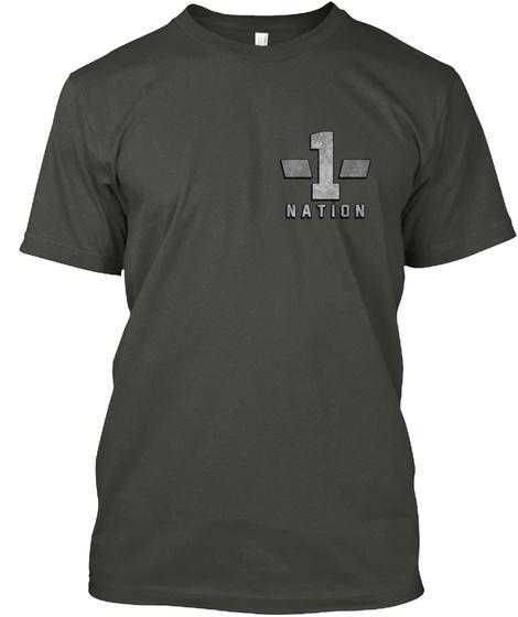 1 Nation Smoke Gray T-Shirt Front