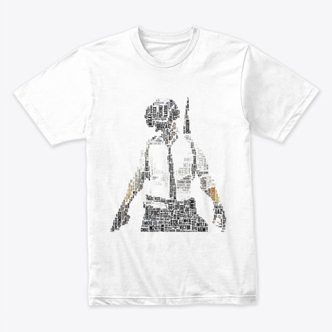 Pubg T Shirt Graphic Printed  White T-Shirt Front