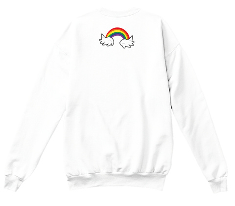Alt Er Love //  Rainbow Crewneck  White Sweatshirt Back