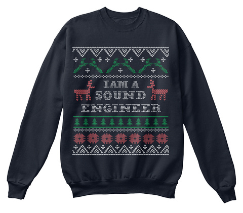 Iam A Sound Engineer French Navy Sweatshirt Front