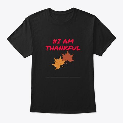 Men/Women Inspiration  Give Thanks Black T-Shirt Front