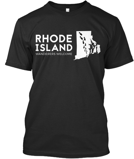 Rhode Island Wanderers Welcome Black T-Shirt Front