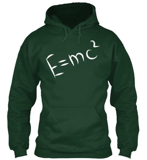E=Mc² Forest Green T-Shirt Front