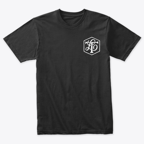 Third Leap Monogram T Shirt Vintage Black T-Shirt Front