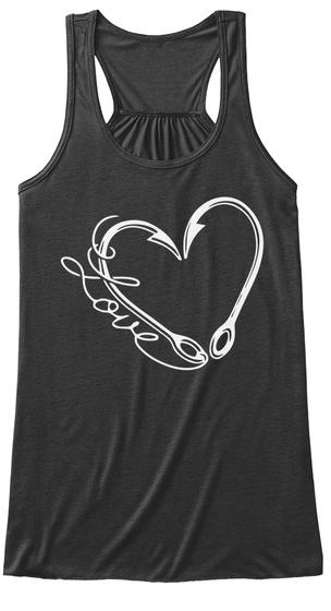Love  Dark Grey Heather T-Shirt Front