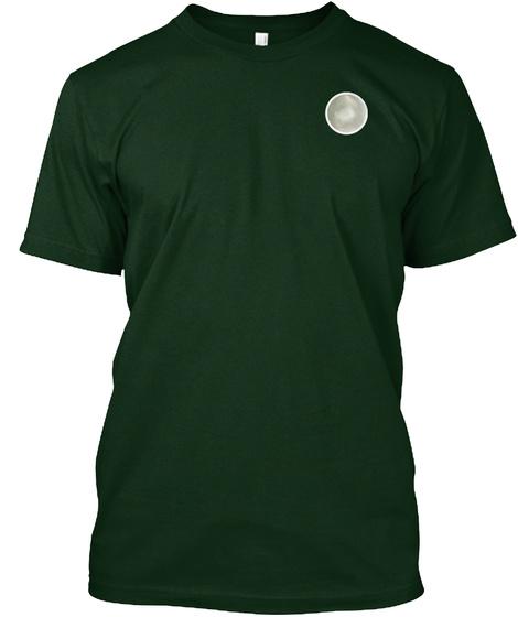 T Shirt Mit Diskretem Perlen Logo Forest Green T-Shirt Front