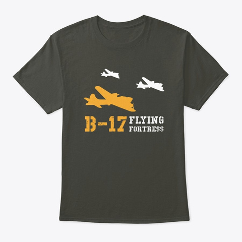 B 17 Flying Fortress   Formation Smoke Gray T-Shirt Front