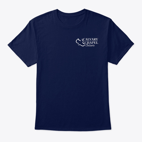 Classic Unisex Tee Navy T-Shirt Front