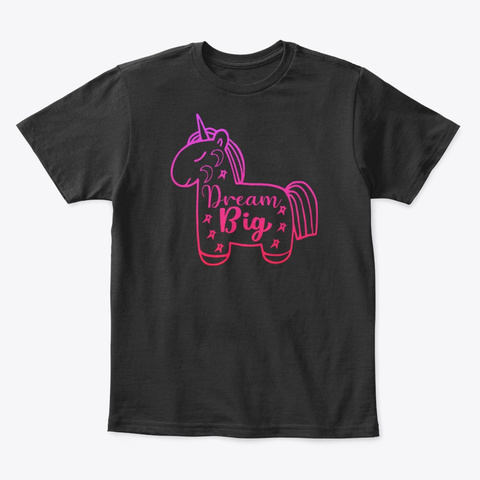 Cute Birthday Gifts For Unicorn Lover Black T-Shirt Front