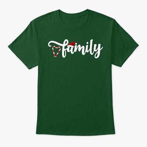 Cute Family Christmas 2020 T Shirt Deep Forest T-Shirt Front