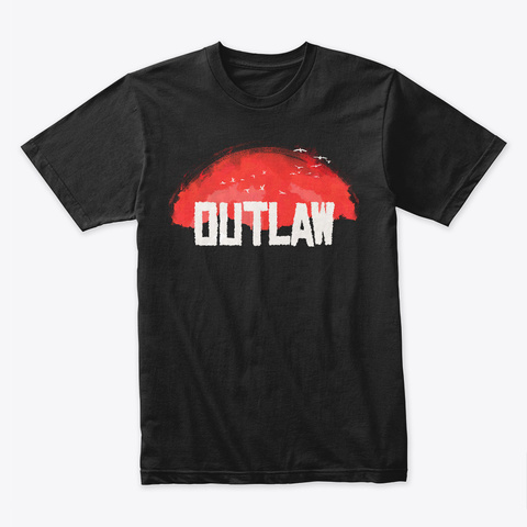 Outlaw Black T-Shirt Front