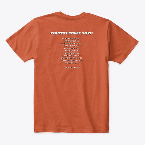 Disc Golf   Rap Cd   Kid's T Shirt Deep Orange  T-Shirt Back