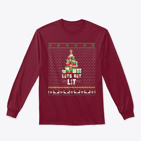 Lets Get Lit   Funny Ugly Present Christ Cardinal Red T-Shirt Front