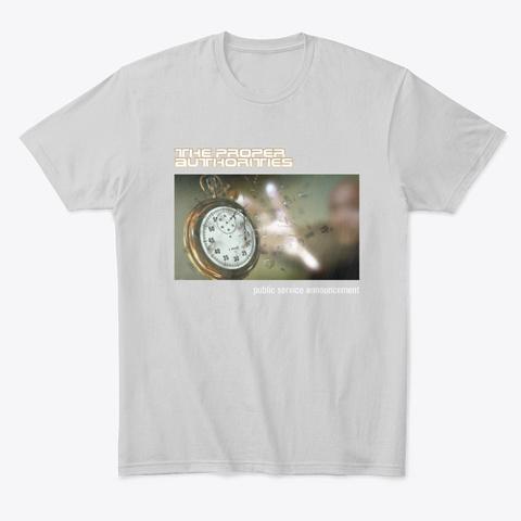 Public Service Announcement Cover Art 1 Light Heather Grey  T-Shirt Front