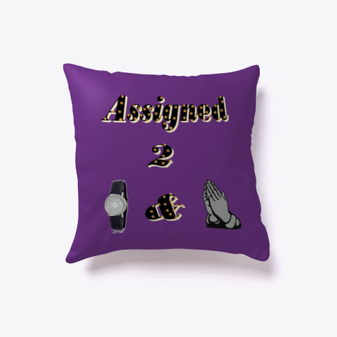 Assigned  To Watch And Pray Purple T-Shirt Front