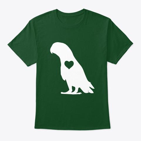 African Grey Heart Deep Forest T-Shirt Front