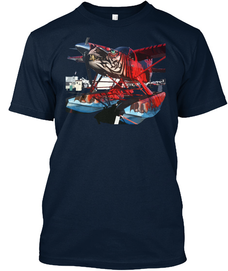 Tiger Aircraft T Shirt New Navy T-Shirt Front