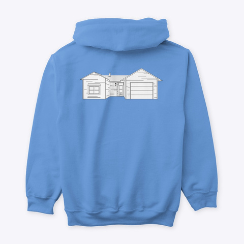 Classic Burbs Hoodie   All Colors Carolina Blue T-Shirt Back