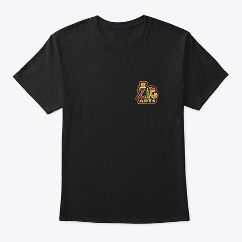 Zig Logo Items Black T-Shirt Front