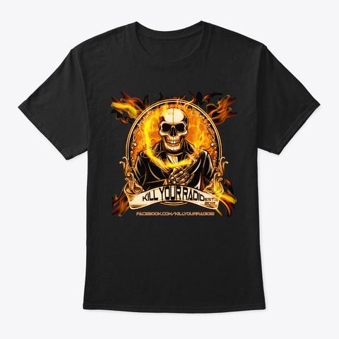 Kill Your Radio 'skully' Black T-Shirt Front