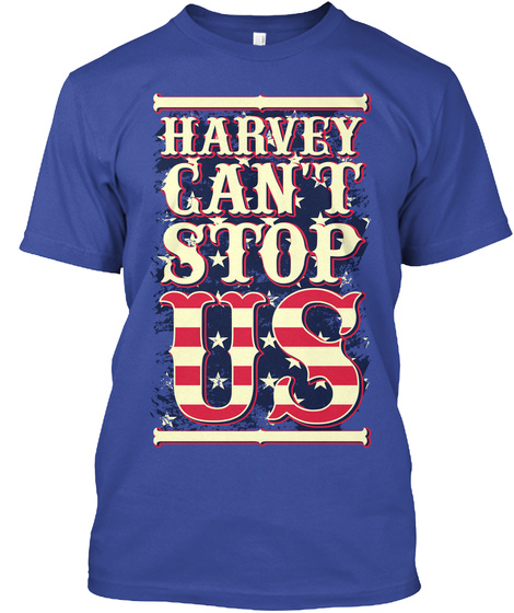 Harvey Can't  Stop Us Deep Royal T-Shirt Front