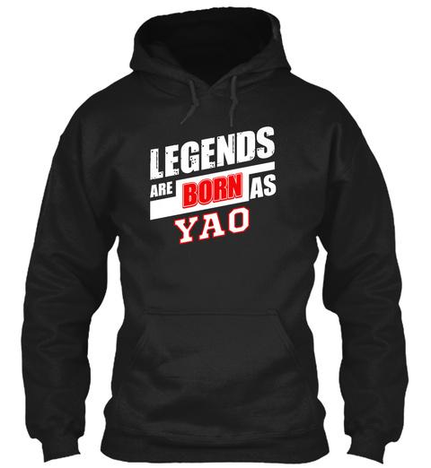 Yao Family Name Shirt Black T-Shirt Front