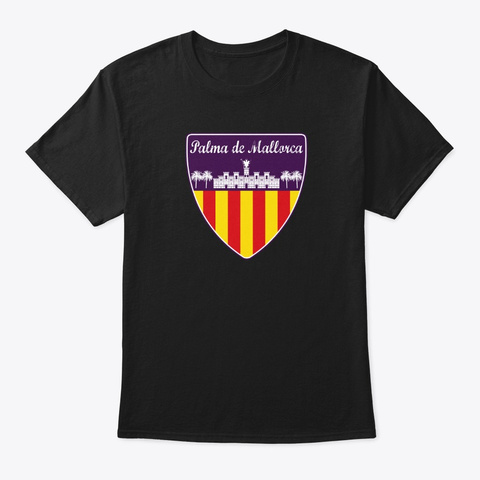 Palma De Mallorca Spain Black T-Shirt Front