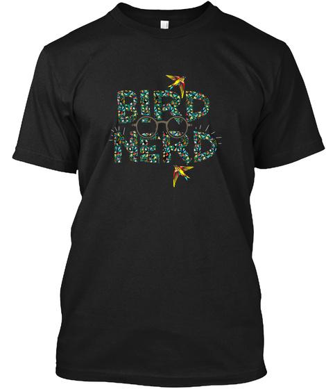 Bird Nerd Black T-Shirt Front