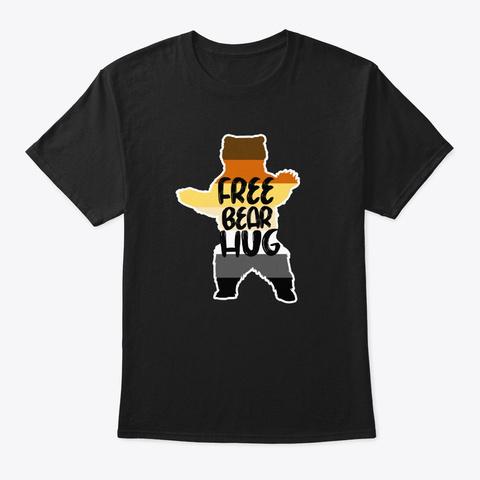Bear Hug Gay Pride Lgbt Retro Gift Black T-Shirt Front