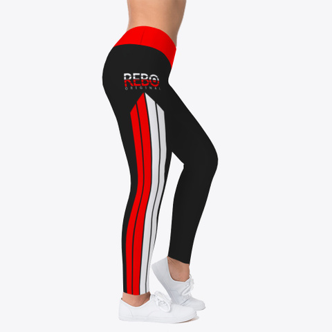 Rebo I Obe Red Leggings Black T-Shirt Right