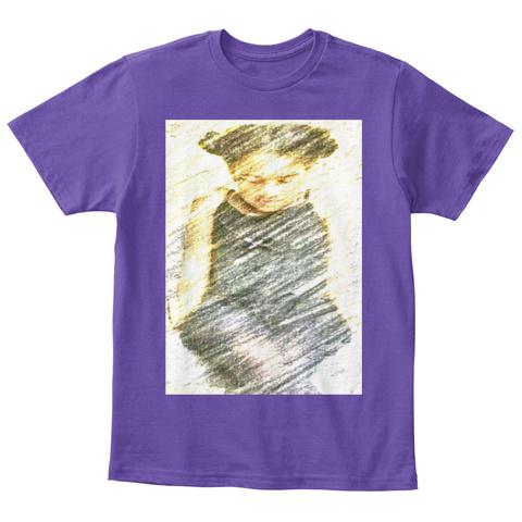 Kids Team Bean Autism Walks Shirt Purple  T-Shirt Front