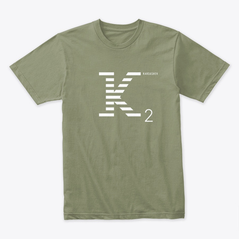 Kardashev 2 / From The 2020 Cx.Report Light Olive T-Shirt Front