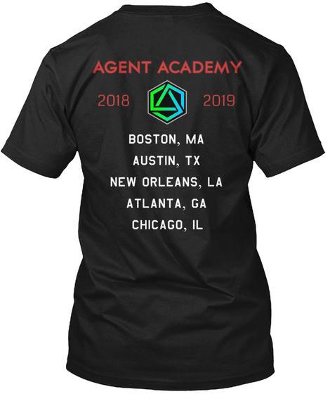 Agent Academy Prime Gear Black T-Shirt Back