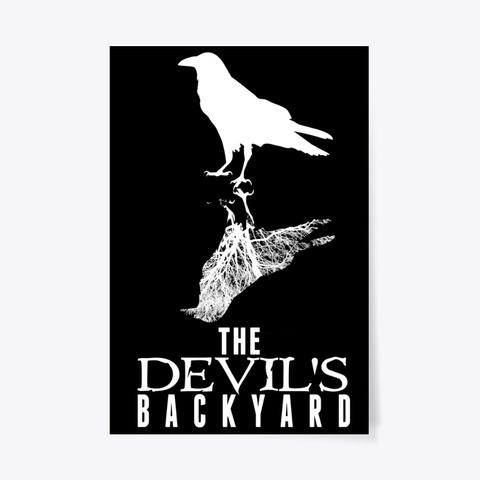 The Devil's Backyard Black & White Black T-Shirt Front