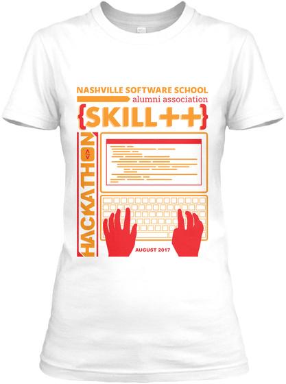 Nss Alumni Hackathon Women's T Shirt W White T-Shirt Front
