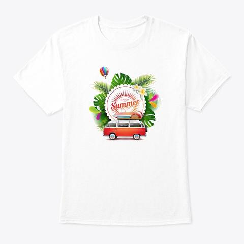 Enjoy Summer White T-Shirt Front