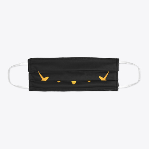 Halloween Spooky Pumpkin Horror Teeth Black T-Shirt Flat