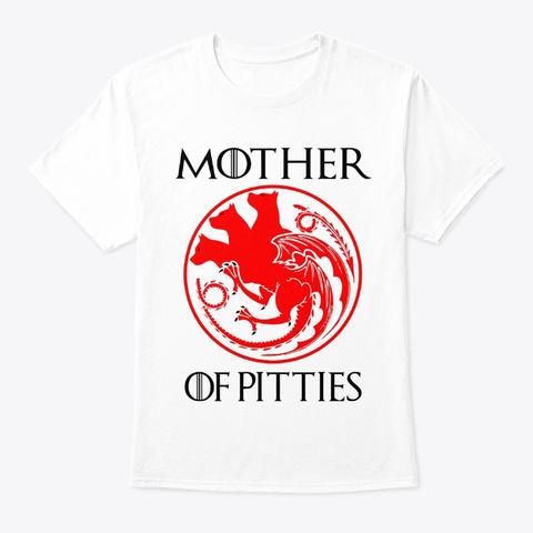 Pitbull Pittie White T-Shirt Front