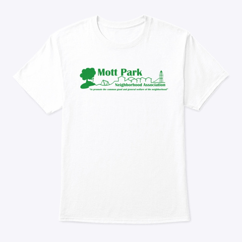 Mott Park White T-Shirt Front